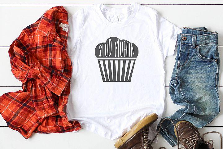 Stud Muffin Svg Muffin Svg, Boy Tshirt Design, Valentine Svg