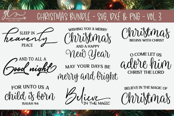 Christmas Bundle - SVG Bundle - Vol. 3 - SVG, DXF & PNG