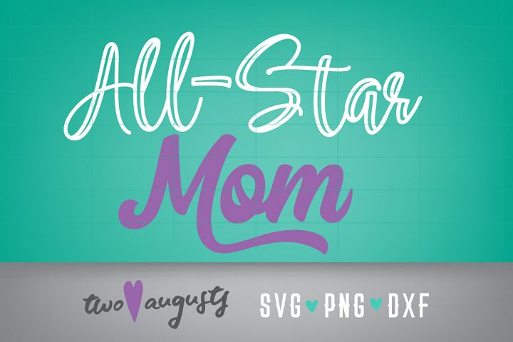All Star Mom, Bat, Your Team, Personalize, Baseball Stitches