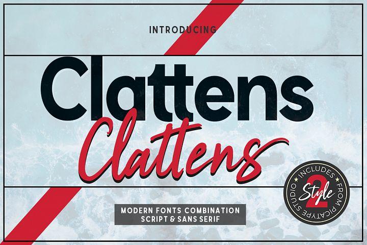 Clattens # Font Duo