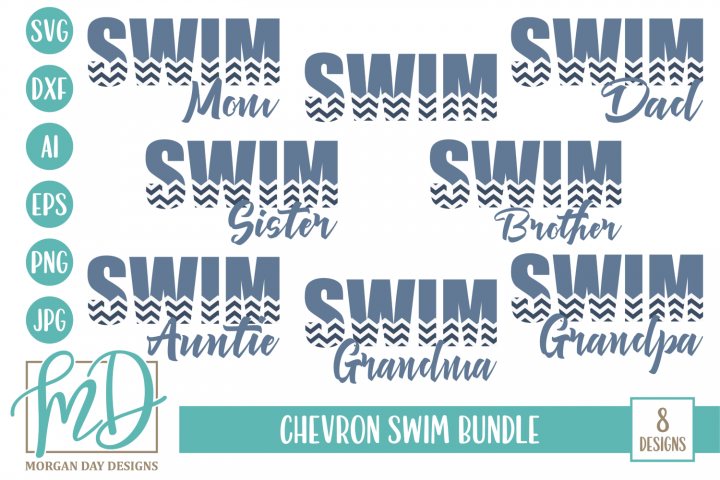 Swim Mom - Swim Dad - Swimming - Swim Bundle SVG