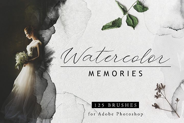 Watercolor memories - 125 PS brushes