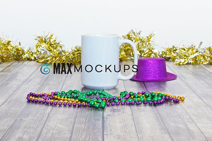 White Mug Mock up, Mardi Gras, 15 oz cup