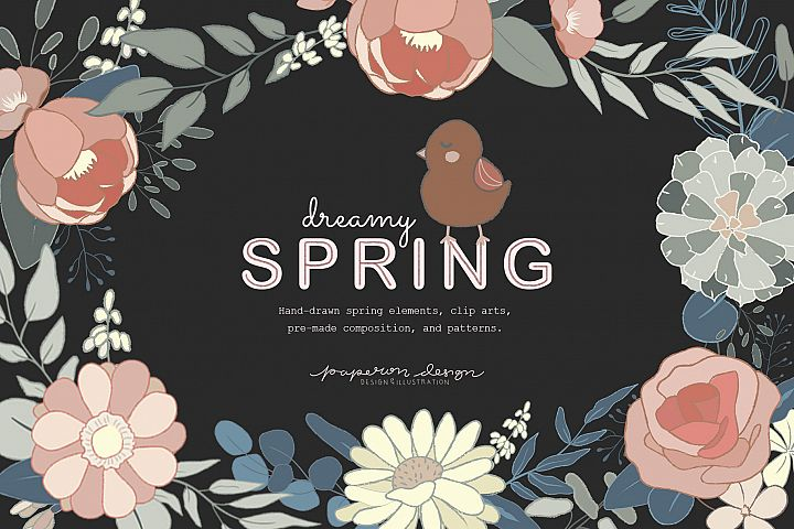 Dreamy Spring Cliparts & Patterns