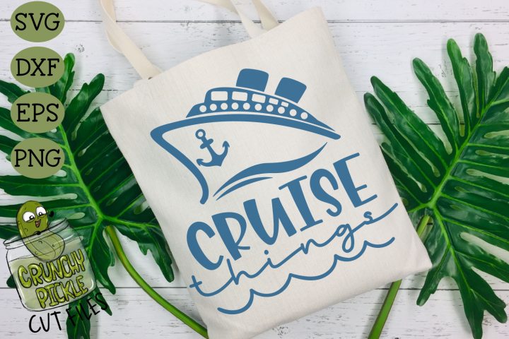 Cruise Things SVG for diy beach bags & travel totes