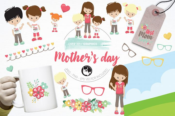 Mothers day graphics and illustrations
