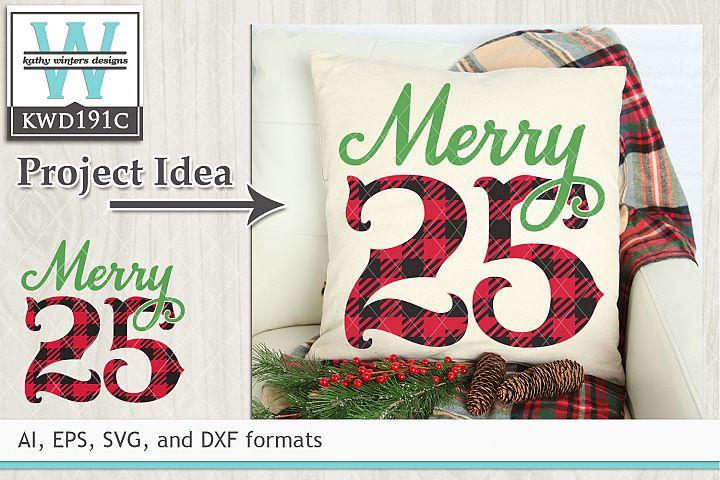 Christmas SVG - Merry 25