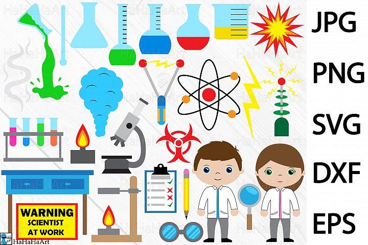 Crazy scientist - Clip art / Cutting Files 164c