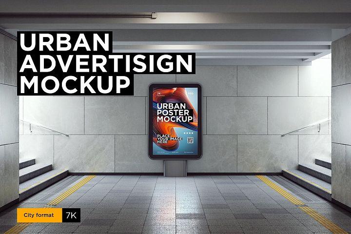 City Urban Lightbox Mock-up