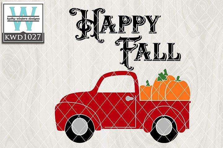 Autumn SVG - Autumn Vintage Truck KWD1027