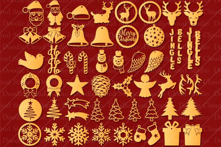 51 Earring SVG Christmas Bundle, Pendant SVG, Jewelry SVG.