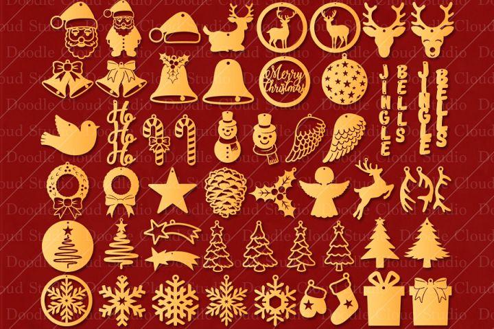 51 Earring SVG Christmas Bundle, Pendant SVG, Jewelry SVG.