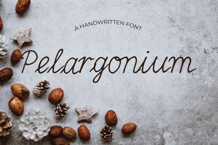 Pelargonium Font