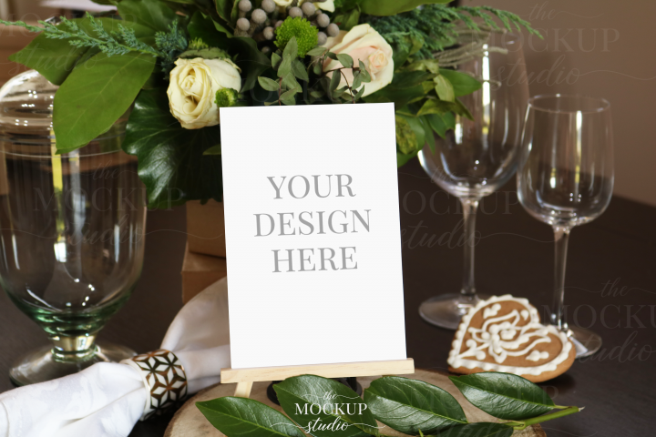 Table Number Mockup, Card Mockup,Wedding Stationary Mockup