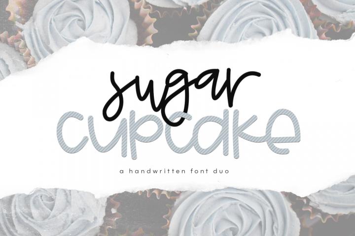 Sugar Cupcake - Handwritten Script & Print Font Duo