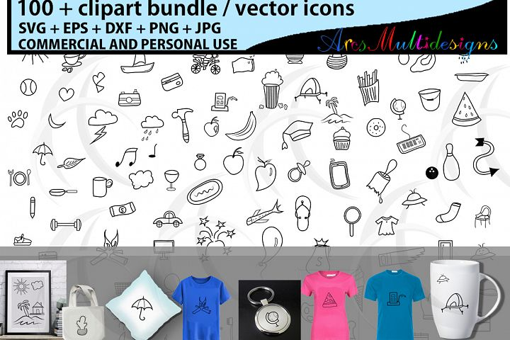 doodle / hand drawn vector doodle clipart / clip art bundle / everyday doodle /doodle svg icon / vector icons / SVG , EPS, JPG, PNG / flat icon