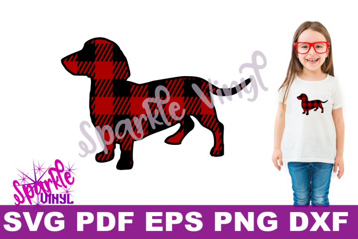 dachshund dog printable with svg files for cricut or silhouette use as clipart decal vinyl stencil vector cut files eps dxf png DIY iron on