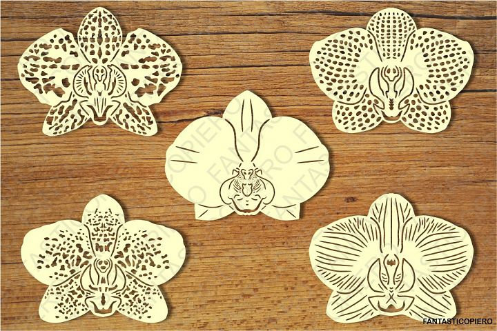 Orchids Flowers SVG files for Silhouette Cameo and Cricut.