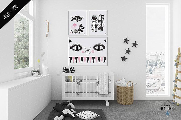 Nursery interior mockup - frame mockup creator
