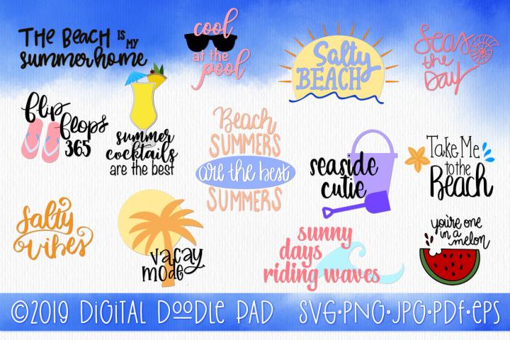 The Summer SVG Bundle   Silhouette & Cricut