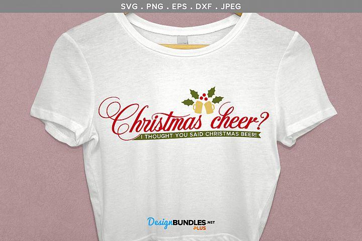 Christmas Beer - svg, printable