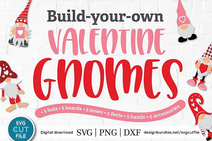 Valentine gnome svg, Valentines Gnomes, Build your own