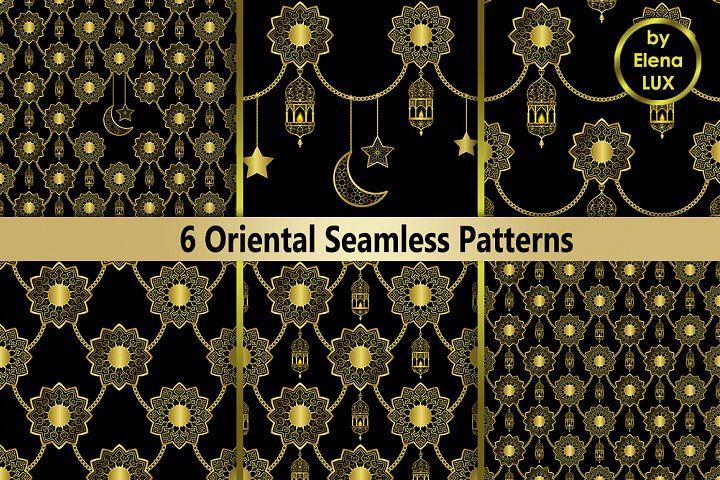 Golden Oriental Seamless Set