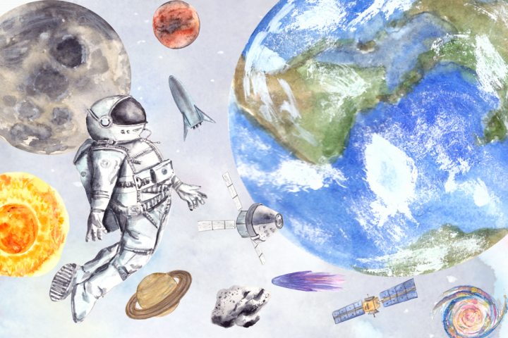 Space - Watercolor Clip Art Set
