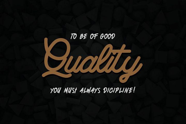Quetty - Monoline & Handwrite Font