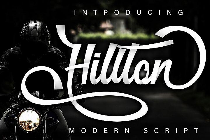 Hillton modern script