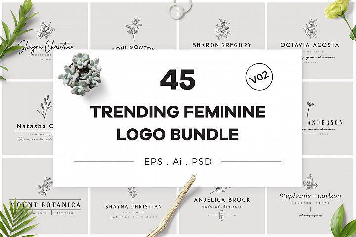 Trending Feminine Logo Bundle V02