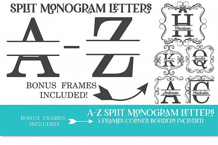 Monogram, Frame Monogram, Split Alphabet,