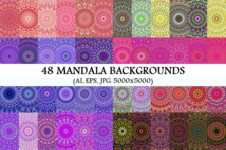 48 Floral Mandala Backgrounds