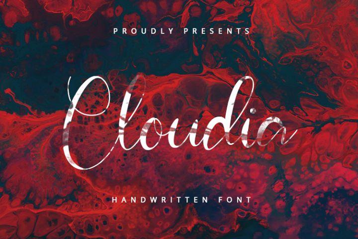 Cloudia - Handwritten Font