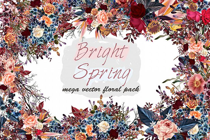 Mega vector floral set