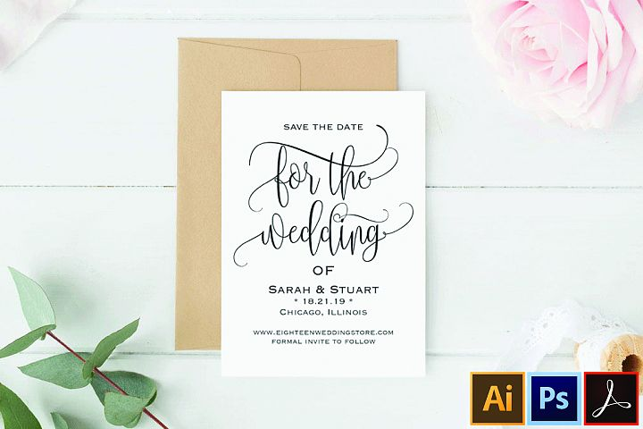 Save the Date Template, Save the Date Cards, Save the Date