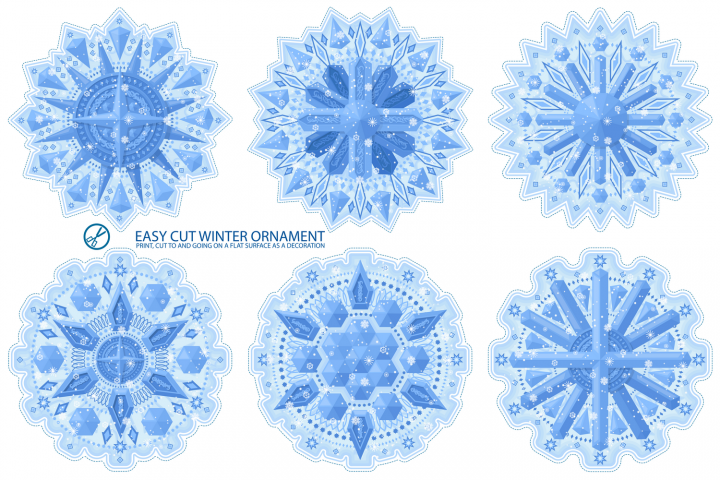 Winter snowflake pattern.