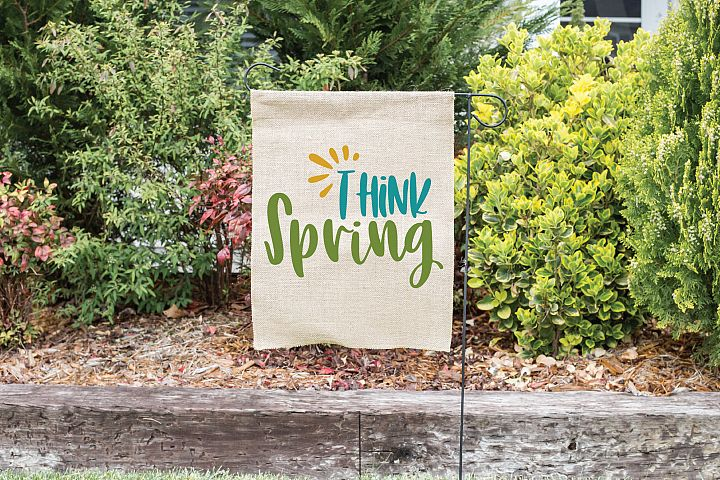 Think Spring SVG Cut File - Spring SVG DXF EPS PNG JPG AI example 2
