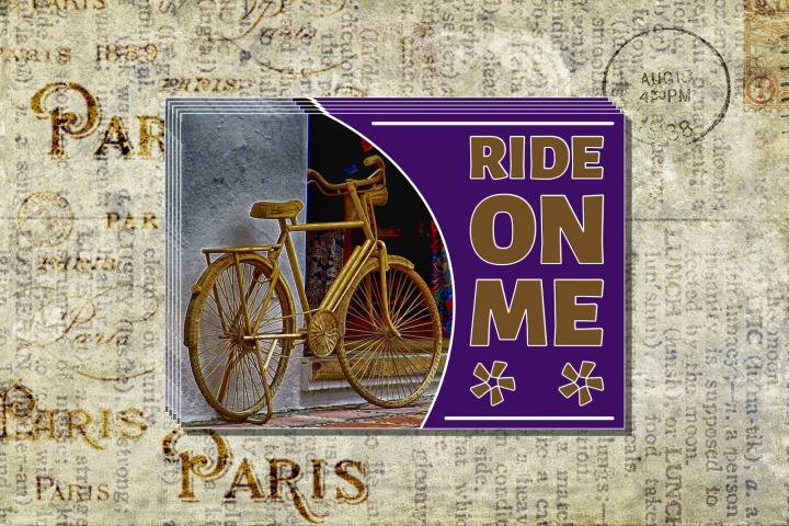 Ride On Me Postcard Template