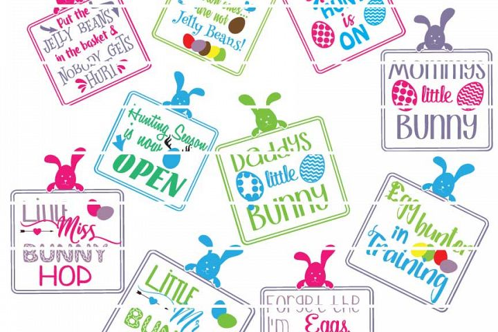 Cute Easter Sayings Bundle -  Includes SVG, DXF, EPS and PNG