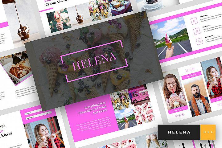 Helena - Ice Cream Google Slides Template