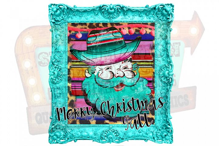 Merry Christmas Yall Sublimation Digital Download