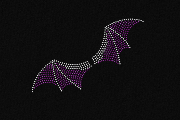 Rhinestone Halloween Bat Wings SVG File Template