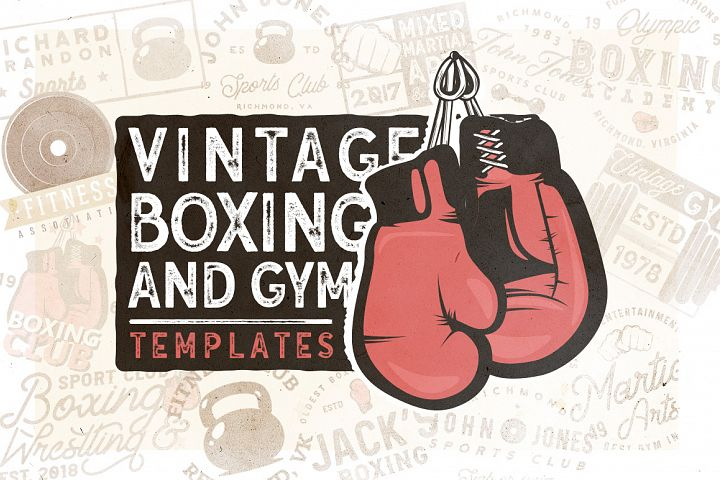 20 Vintage Boxing & Gym Templates