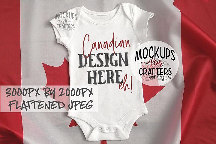 Baby Bodysuit - Unisex - Canadian theme, MOCK-UP