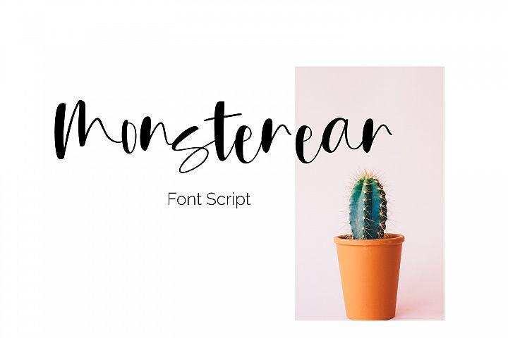 Monsterear font script