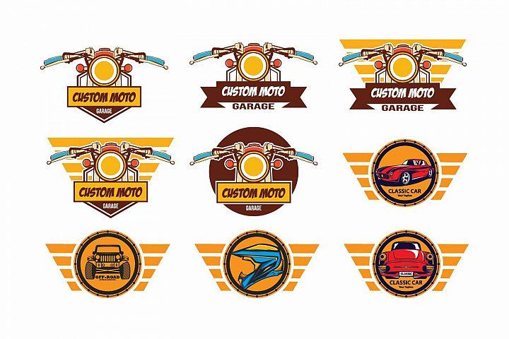 Cafe racer logo template