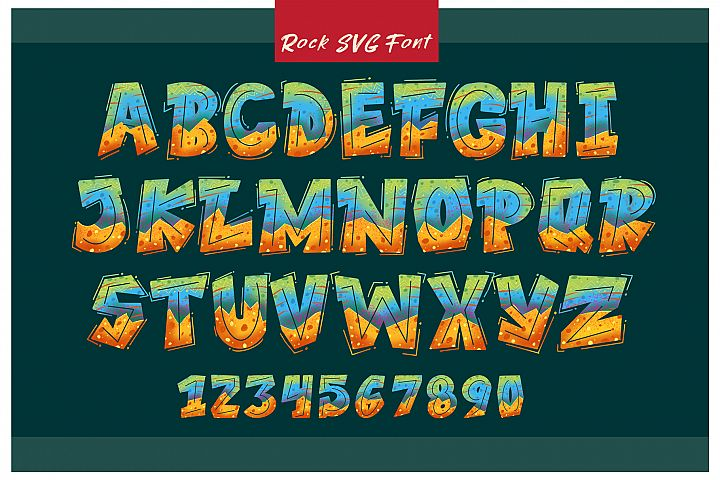 ROCK on RAWK | SVG Font Duo example image 2