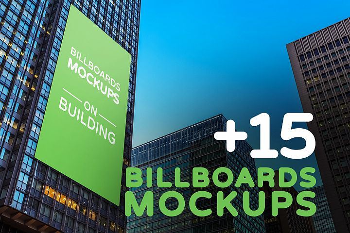 Billboards Mockup on Building Vol.2