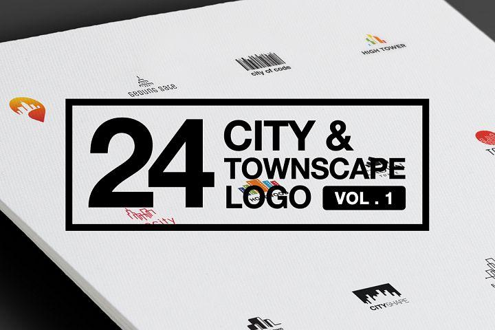 24 City Scape Logo Collections Vol 1 AI EPS CDR PDF